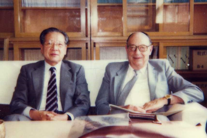 1. Prof. Sadao Nakajima and Prof. John Bardeen (in May 1986 at the Institute for Solid State Physics, The University of Tokyo).